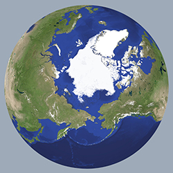 Arctic view of earth