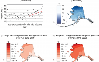 Alaska Annual Average Temperatures and Projected Change