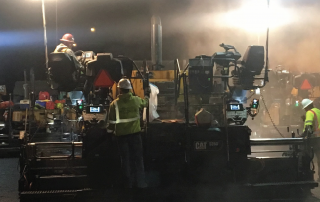night time construction