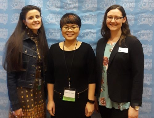 DeFeo, Passini, and Tran present college readiness research at Alaska CAN! Conference