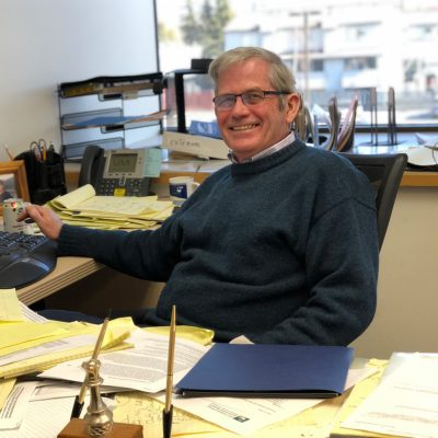 Director Ralph Townsend in his office