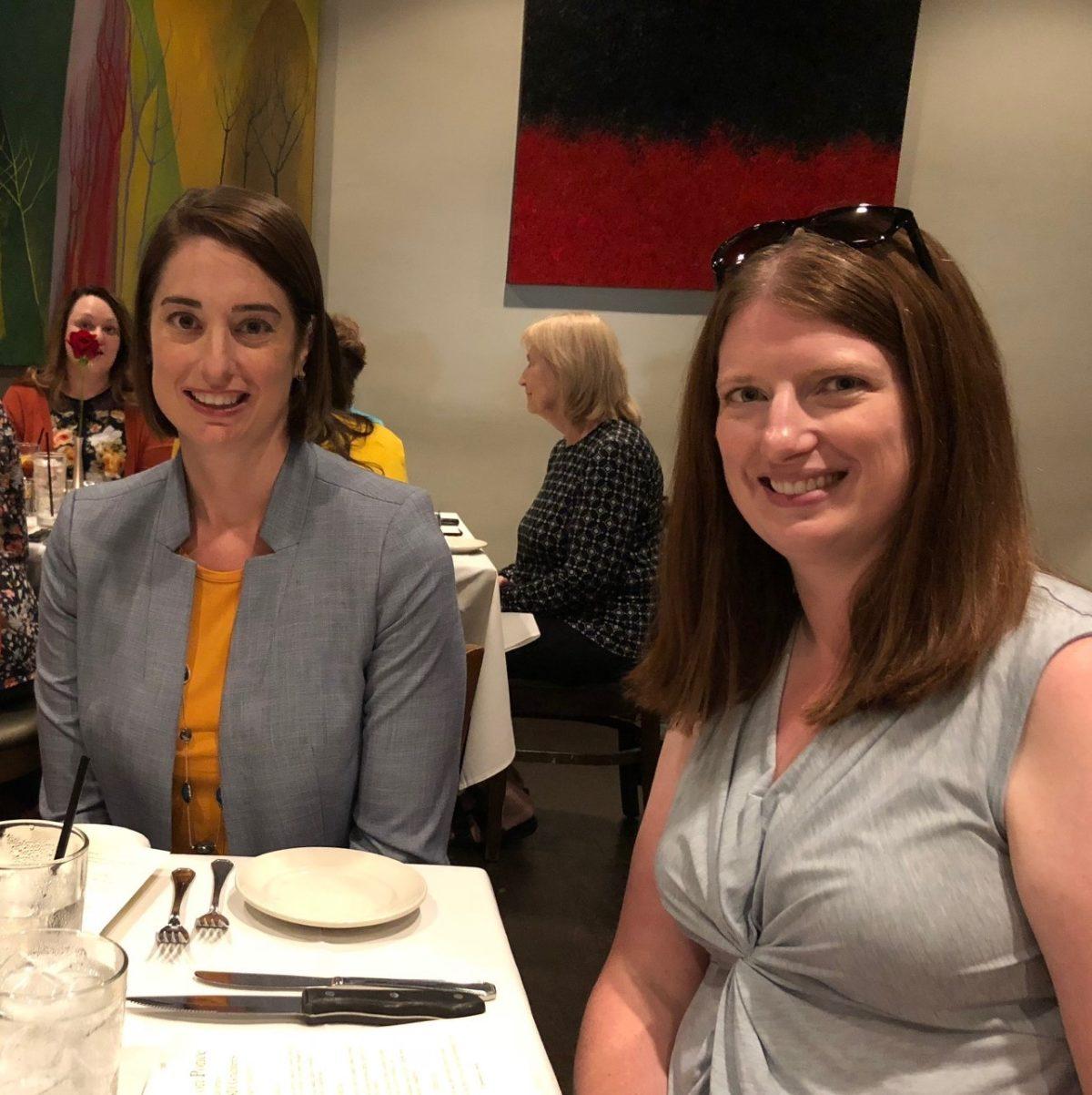 Elizabeth Dang and Bridgett Hanson at CDC meeting
