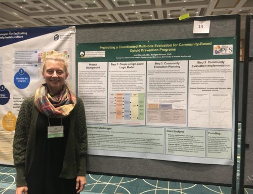 CBHRS researchers present about Alaska opioid evaluation at AEA