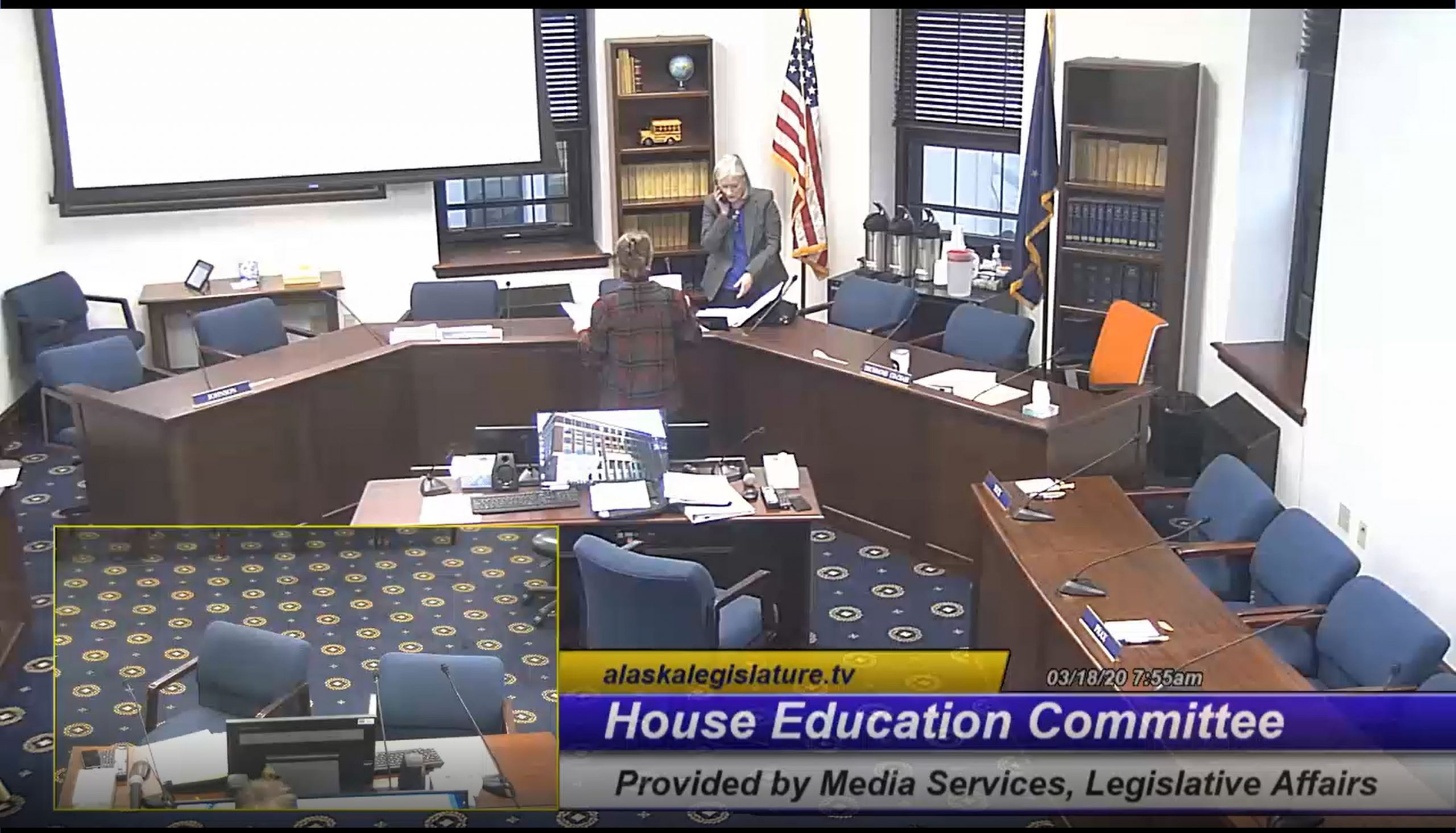 House Education Committee video freeze frame