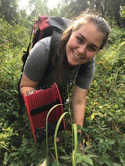 Gina Bodnar in the field